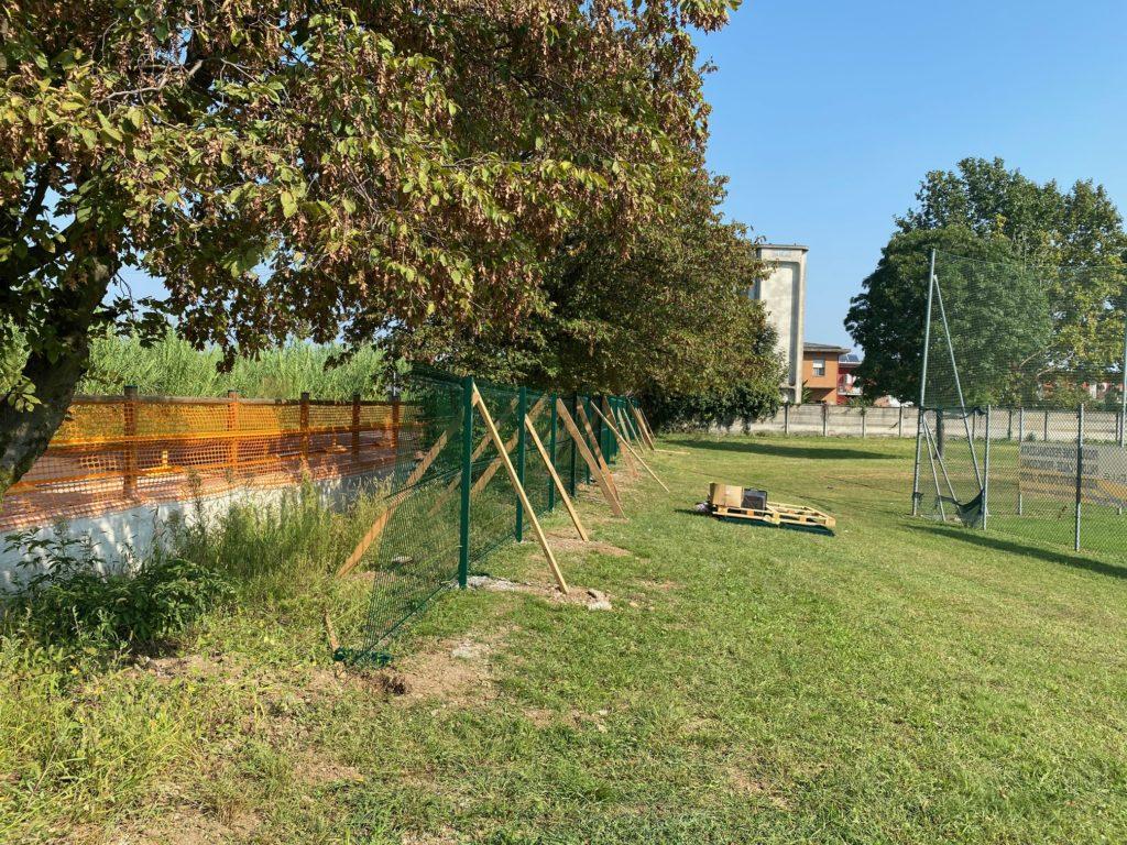 Nuova recinzione Centro Sportivo M.llo Luigi D'Andrea